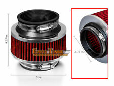 """2.75"""" 70mm Cold Air Intake Universal ByPass Valve Filter RED For Nissan"""