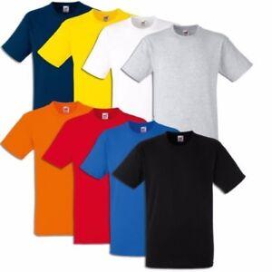 5er 10er Fruit of the Loom T-Shirt Heavy Coton S M L XL XXL Lourde Qualité