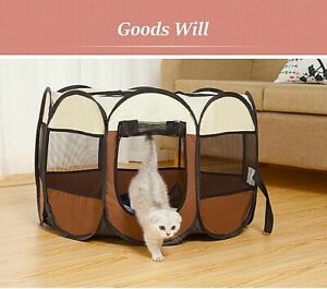 Oxford Portable Pet Puppy Soft Tent Playpen Dog Cat Folding Crate Travel Outdoor