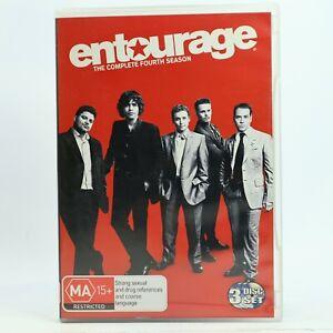 Entourage Series Season 4 DVD Good Condition Free AU Tracked Post