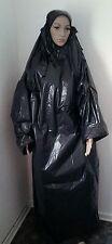 PVC PE Plastik Kleid Regenkleidung Gewand wasserdicht Regen Umhang Mantel NEU