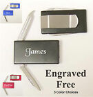 Personalized Custom Engraved Money Clip With Knife Groomsman Best Man Gift