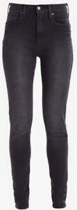 Levi's Womens Mile High Super Skinny Jeans in Faded Ink Charcole / Washed Black