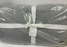 Pottery Barn Flagstone Belgian Flax Linen Hand Stitched Quilt Full/Queen