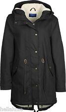 NW~Adidas WINTER COTTON PARKA Jacket sweat shirt Hoody Fur Lined Coat~Women sz M