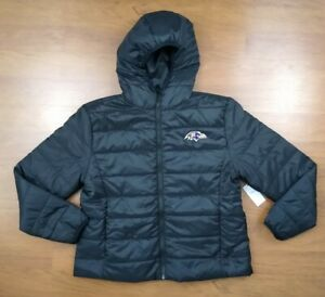 Wear By Erin Andrews NFL Women's Puffer Jacket Baltimore Ravens XXL Black