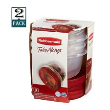 Rubbermaid TakeAlongs Twist & Seal Food Storage Containers, 2 Cup (Pack of 2)