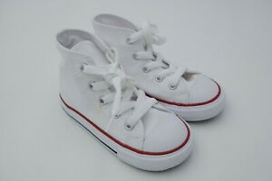 Converse Chuck Taylor Unisex Sneaker All Star Infant White Size 8 Used