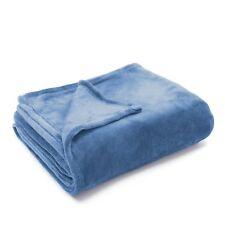 Blanket Throw 50x60 Light Blue Fleece Personalize Soft Microfiber Comfort