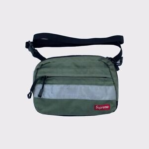Supreme Cordura Side Shoulder Bag Crossbody 3M HIVIS Pouch FW14 Green  100% Auth