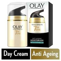 Olay Total Effects Day Cream Moisturiser 7-In-1 Anti-Ageing Fragrance Free 50ml