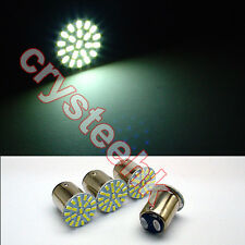 4 Pcs T25/S25 1157 BAY15D 3014 22-SMD LED Tail Turn Brake White Light Lamp Bulb