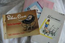 Silver Cross Dolls pram Catalogues 1982 1983 1984; Copies from archive originals