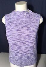Jones Wear Lavender Sleeveless Mock neck Sweater Size M
