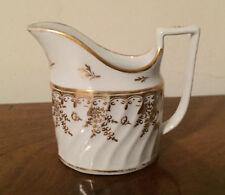Antique 18th c. English Worcester Porcelain Creamer Jug Gold White George III