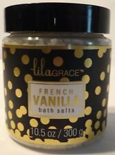 French Vanilla Scented Bath Salts New Full Size Free Ship Relaxing Aromatherapy