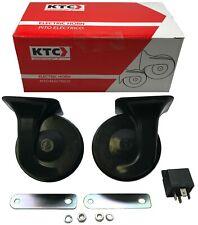 KTC Universal Black Snail Electric Air Horn Set High 510 / Low 410 w/ Relay Kit