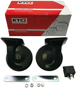 KTC Universal Black Snail Electric Air Horn Set High 510 / Low 410 w/ Relay Kit