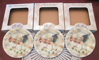 3 American Atelier At Home Rooster Salad Dessert 8.25'' Plate New Box Style A