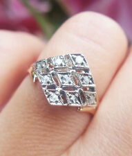 Victorian Antique Inspired 9ct Rose Gold & Diamond Kite Ring