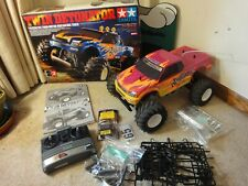 Tamiya Twin Detonator 1/10 Twin-Motor Radio Control 4WD truck with radio. Works!