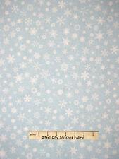 Christmas Fabric - Blue Creamy White Snowflake RJR #2351 White Christmas - Yard