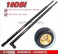2pcs 2.4G 10DBI WIFI High-gain Omnidirectional Antenna Wireless SMA Needle