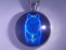 "Beautiful! WICCA - Wolf pendant & Necklace "" NEW """