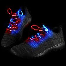 25 Colour Changing Pairs LED Shoelaces Light Up Fibre Glow Flashing Luminous UK
