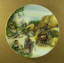 Old Country Crafts The Thatcher Plate #2 Susan Neale Royal Doultan 1990 Htf