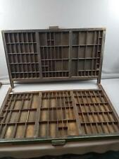 2 Hamilton Antique Drawer Printer Tray letterpress typeset wood shadow box curio
