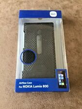 GENUINE WORKS WITH NOKIA LUMIA 800 PERFORATED AIRFLOW BACK CASE COVER - BLACK