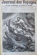 JOURNAL DES VOYAGES N° 533 de 1887 CHASSE CROCODILES BATEAUX DE SAUVETAGE EN MER