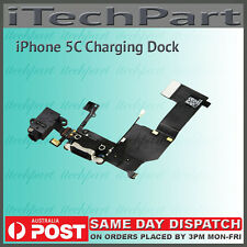 Lightning Connector Charging Dock Headphone Jack Flex Cable For iPhone 5C BLACK
