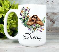 Sloth Coffee Mug Sloth Gifts Sloth Lover Gifts Personalized Sloth Mug Retirement