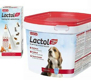 LACTOL MILK - (250g - 2kg) - Beaphar Puppy Dog Supplement PawMits pb Feeding Set