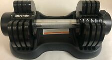 Mtrendy 5-25 lbs adjustable Dumbbell Black Single / Pair Weight Workout Exercise
