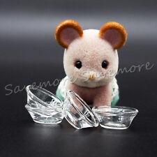 4X Glass Bowl 1:12 Cookware Miniature Kitchen Dollhouse Toy Decor Cute Xmas Gift