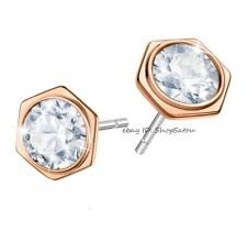 NIB SWAROVSKI Hexagon Stud Earrings ROSE GOLD 5371199