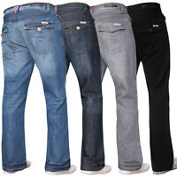 Original APT Mens Bootcut Jeans Wide Leg Flared Work Casual Denim Big King Sizes