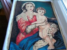 French vintage cross stitch needlework embroidery lovely patterned