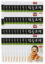 Korean Charcoal Nose Pore Cleansing Strips Blackhead Peel Off mask pack_40pcs