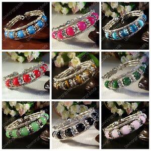 Tibetan silver bracelet jewelry fashion handmade crafts 16 color beaded bangle