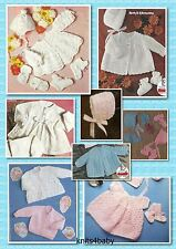 150+ Vintage PATTERNS ~ Fantastic Selection of BABY KNITTING & CROCHET GARMENTS.
