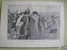 Cours d'automne: Devant Les tribuns Auteuil 1904