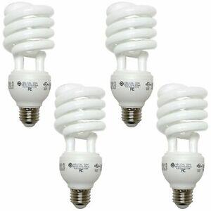 GE Spiral CFL Light Bulb 32 Watt 2150lm E26 Medium Base UL Listed 4 Pack