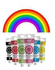Food Colouring Icing sugarcraft sugar paste cake decorating Rainbow Dust 6 pack