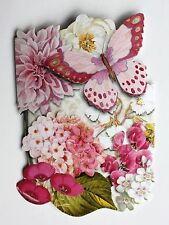 *punch Studio Set of 6 Die Cut Blank Note Cards Floral Orchids Butterfly