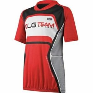 "Louis Garneau Junior Short Sleeve ""LG Team"" Cycling Jersey Red"