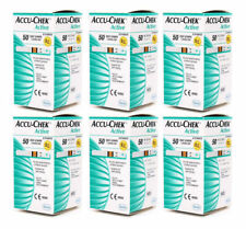 Accu-Chek Active 300 Test Strips, 6X50 Strips, 1 Code Chips FAST  FREE SHIPPING